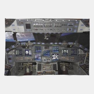 NASA Space Shuttle Cockpit Earth Orbit Window View Tea Towel