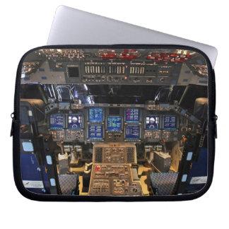 NASA Space Shuttle Endeavour Flight Deck Cockpit Laptop Sleeve