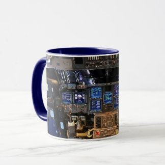 NASA Space Shuttle Endeavour Flight Deck Cockpit Mug