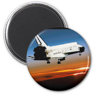 NASA SPACE SHUTTLE FLYING INTO COCOA BEACH REFRIGERATOR MAGNETS