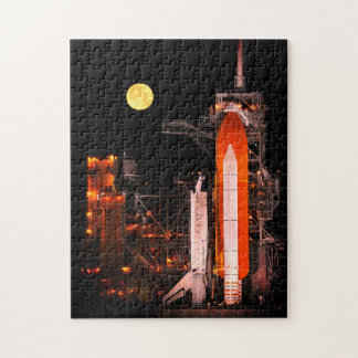 NASA Space Shuttle Launch At Night Jigsaw Puzzle