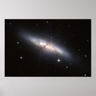 NASA - Starburst Galaxy M82 Poster
