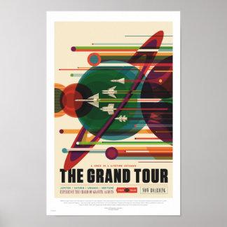 NASA - The Grand Tour - Retro Travel Poster