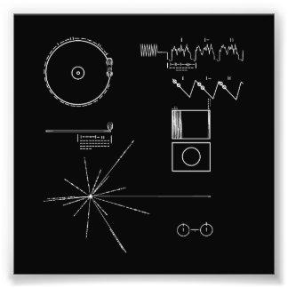 NASA Voyager Golden Record Photo Print