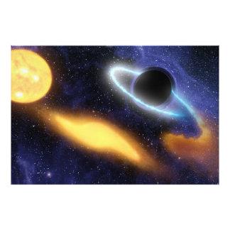 NASAs Black hole PIA01884 Photo Print