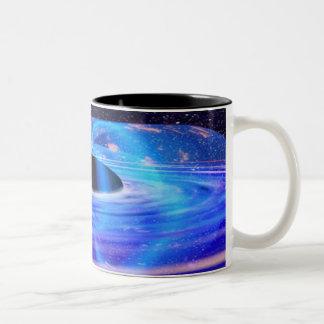Nasa's Blue Black Hole Two-Tone Coffee Mug