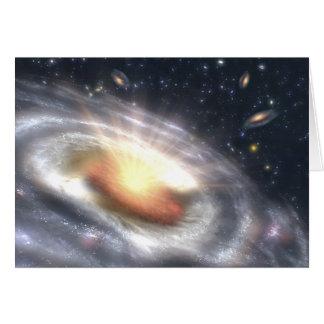 NASAs Bursting with Stars and Black Holes Greeting Card