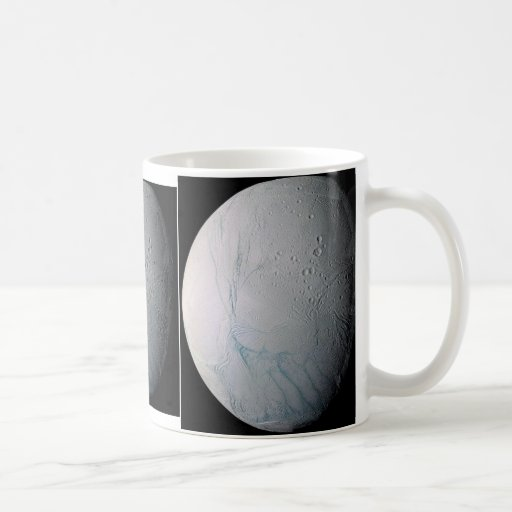 NASAs Fresh Tiger Stripes on Enceladus Mug