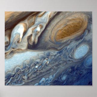 NASAs Jupiter Swirls Poster