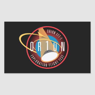 NASA's Orion EFT-1 Flight Official Mission Patch Rectangular Sticker