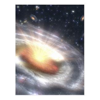 NASAs Quasar Black Hole Postcard