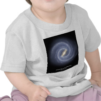 NASA's Road map to the Milky Way T-shirts