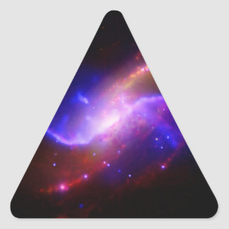 NASAs spiral galaxy M106 Triangle Sticker