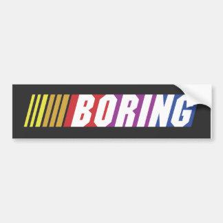 NASCAR - BORING Bumper Sticker