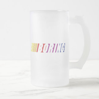 Nascar Boring Frosted Glass Beer Mug
