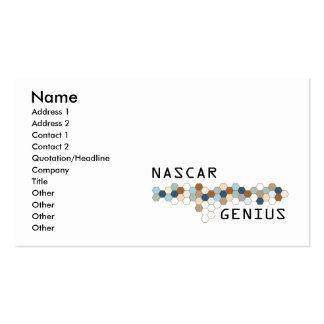 NASCAR Genius Business Card Template
