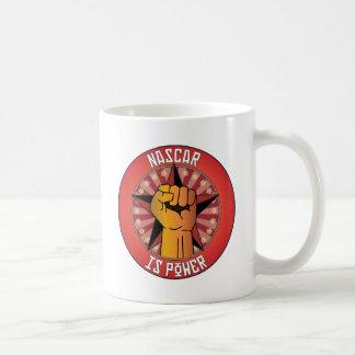 Nascar Is Power Coffee Mugs