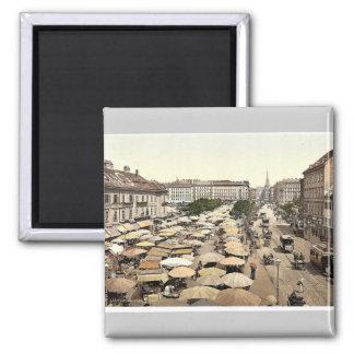 Nasch Market, Vienna, Austro-Hungary magnificent P Fridge Magnet