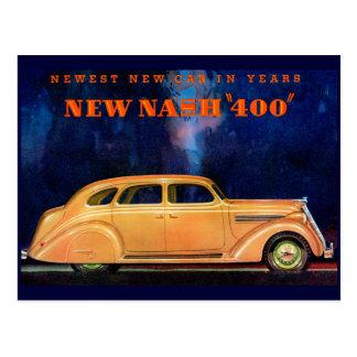 Nash 400 ~ Vintage Automobile / Car Advertisement Postcard