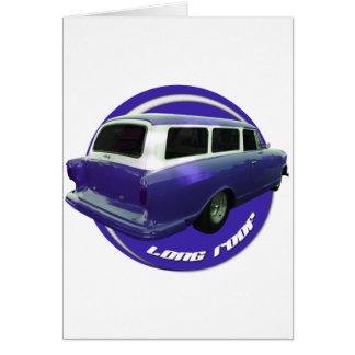 nash long roof blue station wagon greeting card