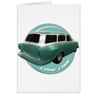 nash long roof seafoam station wagon greeting card