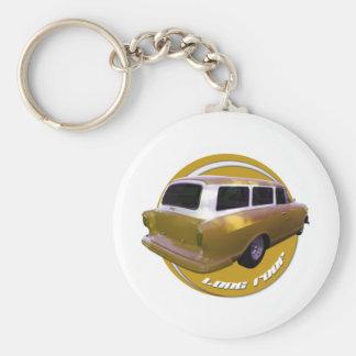 nash long roof station wagon golden yellow key chain