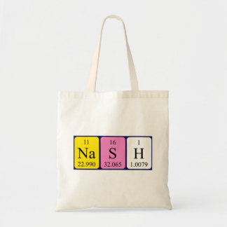 Nash periodic table name tote bag