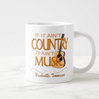 Nashville Ain't Country Ain't Music Jumbo Mug