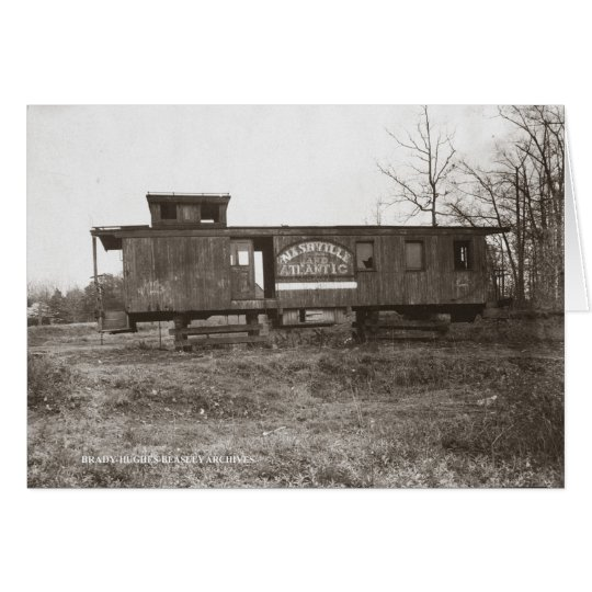 Nashville and Atlantic Railroad Caboose Card