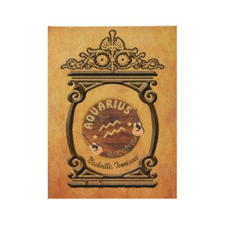 Nashville Aquarius Zodiac Wood Poster - BNZ