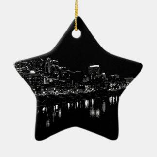 Nashville At Night Ceramic Ornament