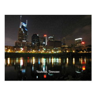 Nashville at Night Postcard