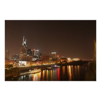 Nashville at Night Print