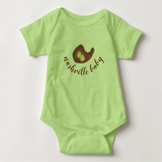 Nashville Baby TN Style Hot BBQ Chicken TENNESSEE Baby Bodysuit