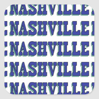 Nashville Blue Block Square Sticker