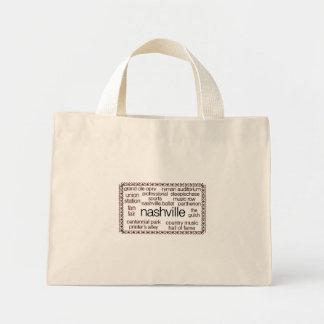 Nashville Brown Mini Tote Bag
