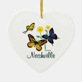 Nashville Butterflies Ceramic Ornament