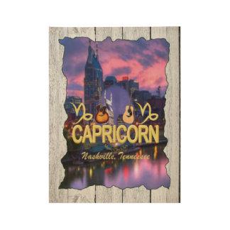 Nashville Capricorn Zodiac Wood Poster - MC
