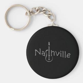 nashville gold tone basic round button key ring