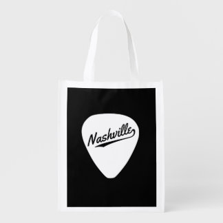 Nashville Guitar Pick Reusable Grocery Bag