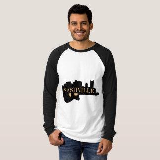 Nashville Guitar Skyline Long Sleeve Mens' T-Shirt