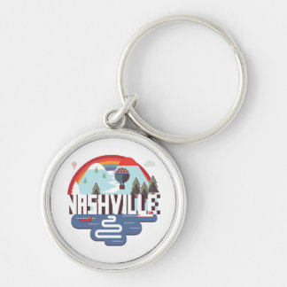 Nashville In Design Silver-Colored Round Key Ring