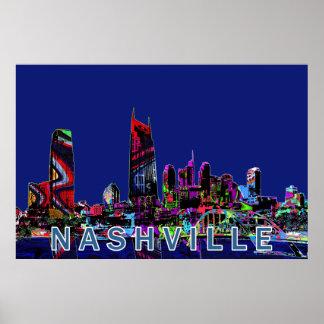 Nashville in graffiti poster