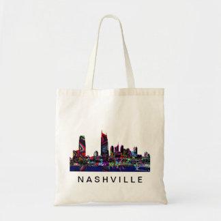 Nashville in graffiti tote bag
