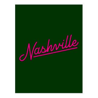 Nashville in Magenta Postcard