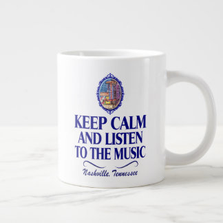 Nashville Keep Calm Listen to Music Jumbo Mug
