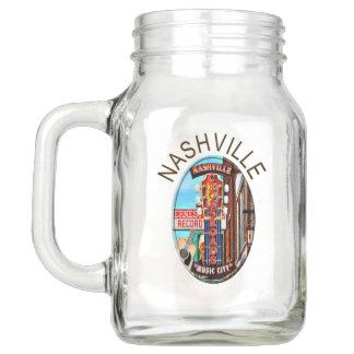 Nashville Lower Broadway Mason Jar