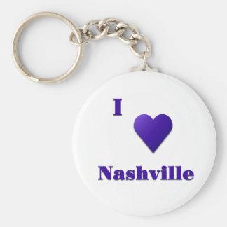 Nashville -- Midnight Blue Basic Round Button Key Ring