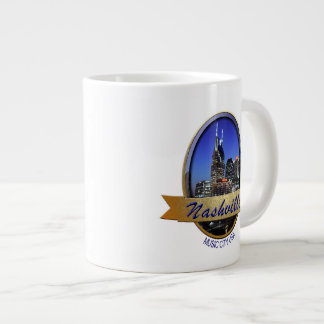 Nashville Music City-GLD Jumbo Mug