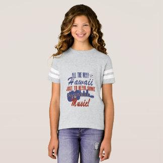 Nashville Music from Hawaii Girl's Football Shirt